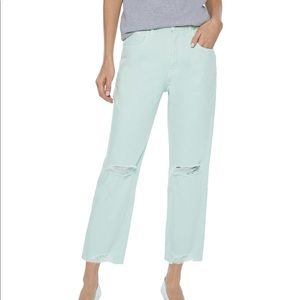 NWT J Brand Cropped High-Rise Straight Leg Jeans